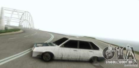 Vaz 2109 Hobo para GTA San Andreas vista traseira