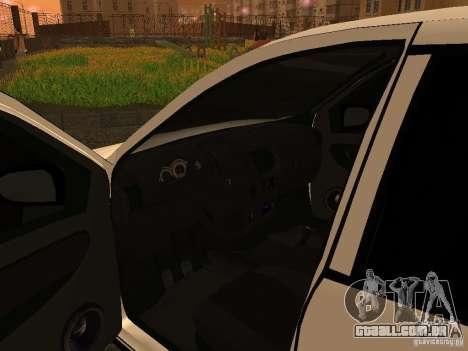 VAZ 1118 para GTA San Andreas vista traseira
