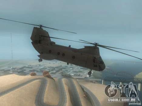 CH46 para GTA San Andreas traseira esquerda vista