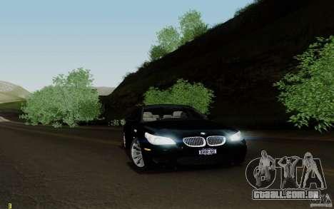 BMW M5 2009 para GTA San Andreas traseira esquerda vista