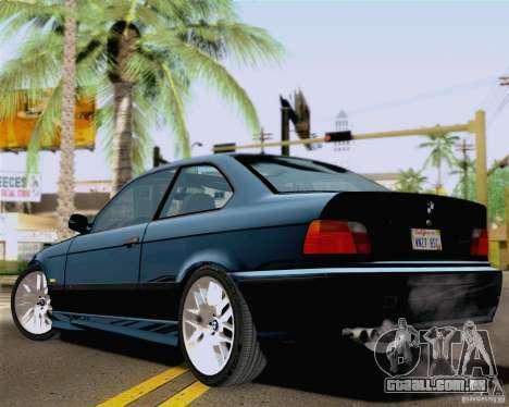 BMW M3 E36 New Wheels para GTA San Andreas esquerda vista
