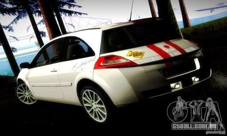 Renault Megane Coupe 2008 TR para GTA San Andreas esquerda vista