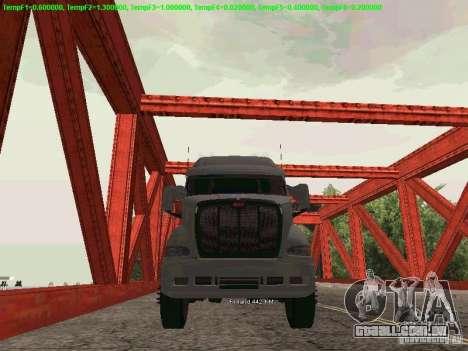 Peterbilt 387 para GTA San Andreas traseira esquerda vista