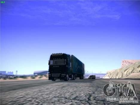 Scania R620 Dubai Trans para GTA San Andreas traseira esquerda vista