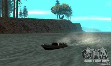 GTAIV Dinghy para GTA San Andreas vista interior