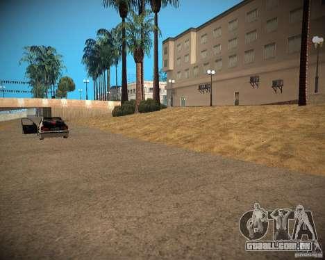 New textures beach of Santa Maria para GTA San Andreas quinto tela