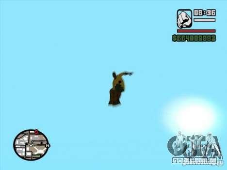 Snowboard para GTA San Andreas traseira esquerda vista