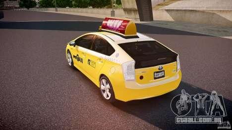 Toyota Prius NYC Taxi 2011 para GTA 4 traseira esquerda vista