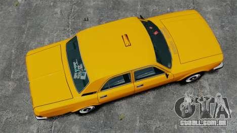 Táxi de gaz-3102 para GTA 4 vista direita