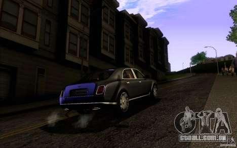 Bentley Mulsanne 2010 v1.0 para GTA San Andreas vista direita