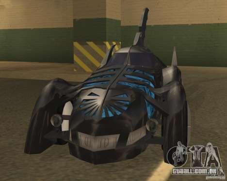Batmobile 1995 para GTA San Andreas esquerda vista
