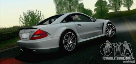 Mercedes-Benz SL65 AMG Black Series para GTA San Andreas vista traseira