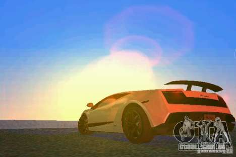 Lamborghini Gallardo LP570 SuperLeggera para GTA Vice City vista traseira esquerda