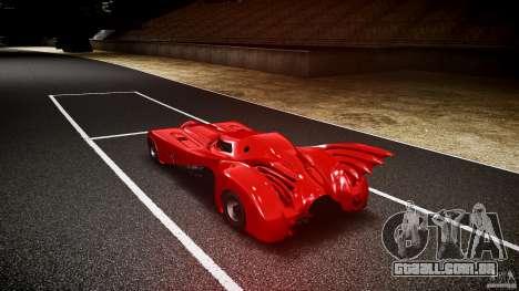 Batmobile Final para GTA 4 traseira esquerda vista