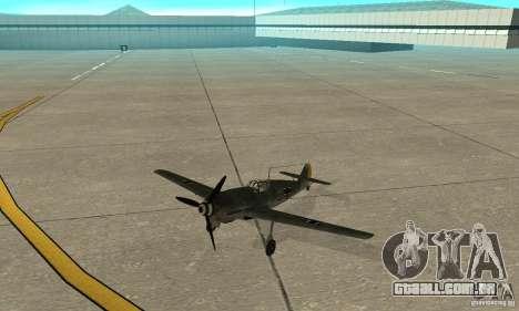 Bf-109 para GTA San Andreas esquerda vista