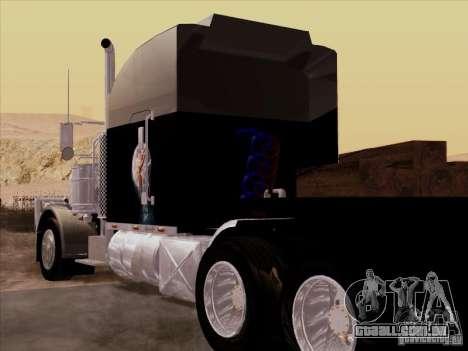 Peterbilt 378 Custom para GTA San Andreas vista direita