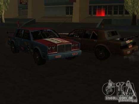 GreenWood Racer para GTA San Andreas vista traseira