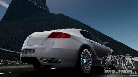 Bugatti Galibier 2009 para GTA 4 vista direita