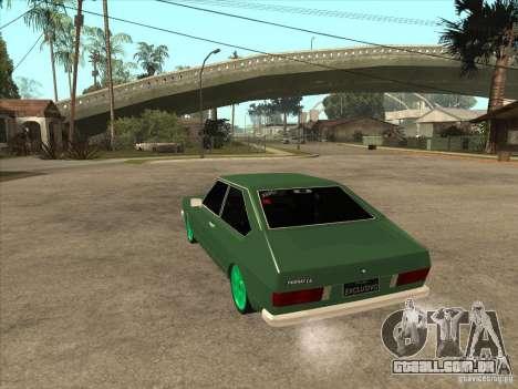 Volkswagen Passat 1.9A para GTA San Andreas traseira esquerda vista
