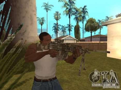 Metralhadora MK-48 para GTA San Andreas terceira tela