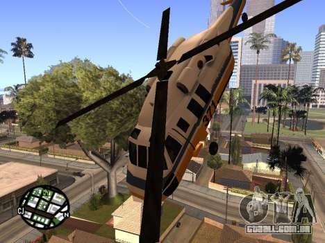Tiro de um helicóptero para GTA San Andreas