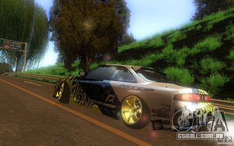 Nissan Silvia S14 zenki matt powers para GTA San Andreas traseira esquerda vista