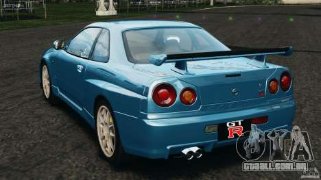 Nissan Skyline GT-R R34 2002 v1.0 para GTA 4 traseira esquerda vista