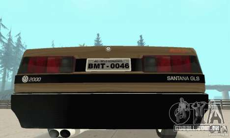 Volkswagen Santana GLS 1989 para GTA San Andreas