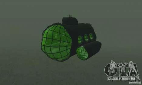 Submarino para GTA San Andreas esquerda vista