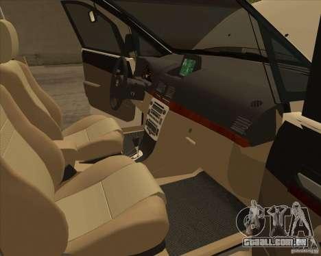 Toyota Innova para GTA San Andreas interior