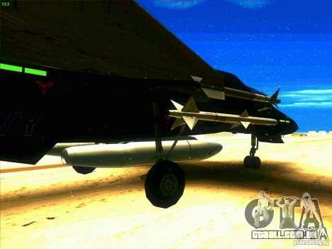 F-14 Tomcat Razgriz para GTA San Andreas vista traseira