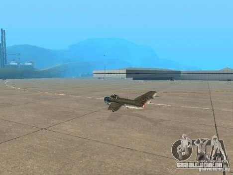 MiG-15 com armas para GTA San Andreas esquerda vista