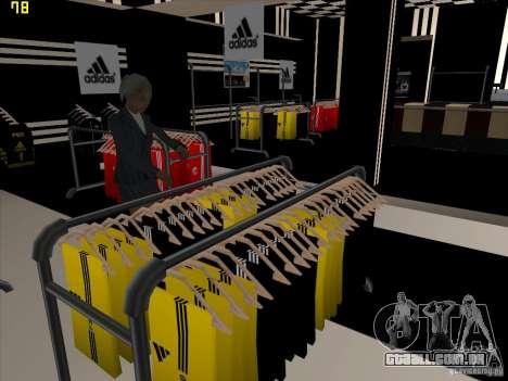Substituição completa da loja Binco Adidas para GTA San Andreas sexta tela