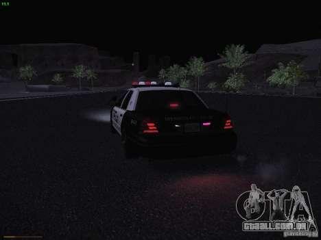 Ford Crown Victoria Police 2003 para GTA San Andreas vista superior