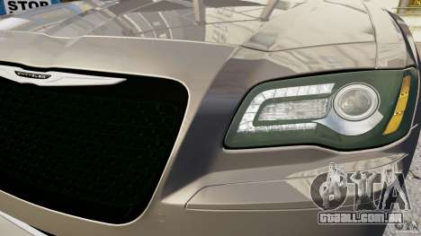 Chrysler 300 SRT8 2012 para GTA 4 vista de volta