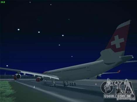Airbus A340-300 Swiss International Airlines para GTA San Andreas vista interior