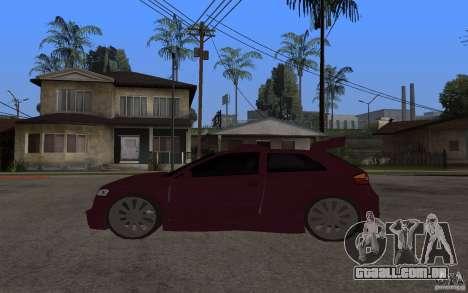 Audi A3 Tuned para GTA San Andreas esquerda vista