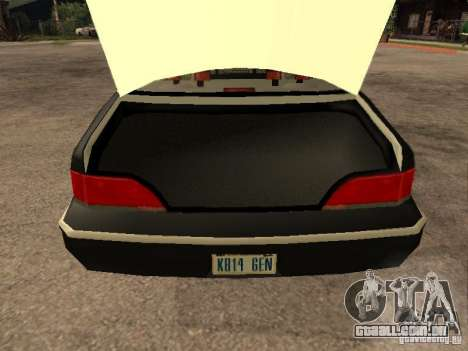 Ford Crown Victoria 1994 Police para vista lateral GTA San Andreas