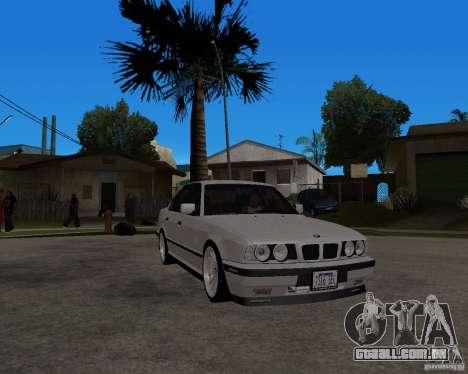 BMW M5 E34 para GTA San Andreas vista traseira
