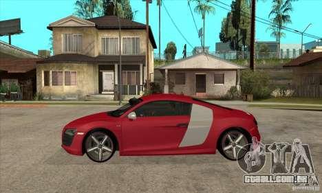 Audi R8 V10 para GTA San Andreas esquerda vista