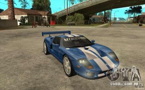 Ford GT para GTA San Andreas vista traseira