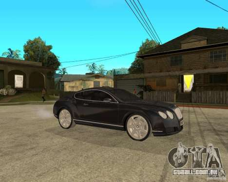 Bentley Continental GT para GTA San Andreas vista direita