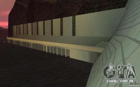 A nova barragem para GTA San Andreas por diante tela