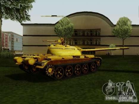 Type 59 GOLD Skin para GTA San Andreas esquerda vista