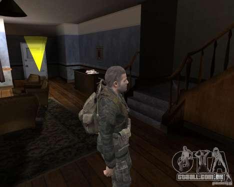 Alex Mason para GTA San Andreas por diante tela