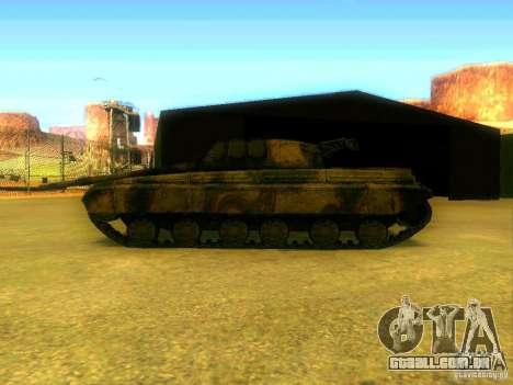 Tanque jogo S. T. A. L. k. e. R para GTA San Andreas vista direita