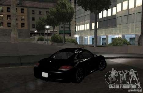 Porsche Cayman R para GTA San Andreas vista traseira