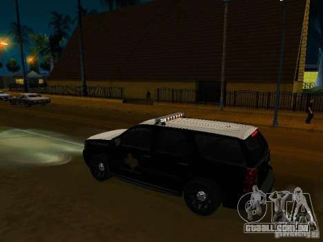 Chevrolet Tahoe Texas Highway Patrol para GTA San Andreas vista direita