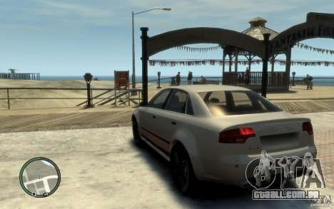 Audi RS4 para GTA 4 traseira esquerda vista
