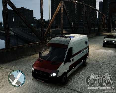 Mercedes Benz Sprinter American Medical Response para GTA 4 vista direita